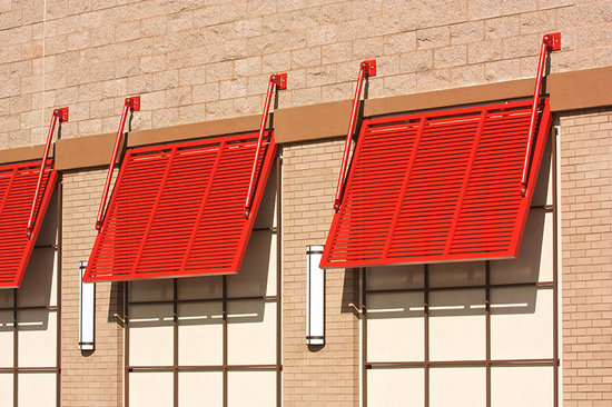 Louvered Metal Awnings Louver Sunshade Awning in